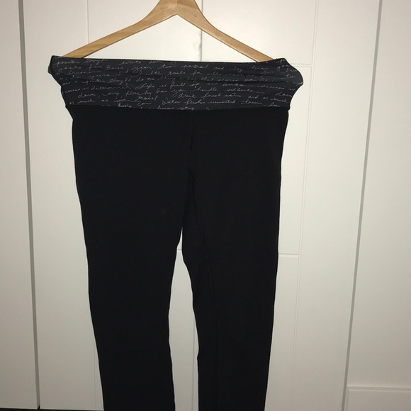 Black lulu lemon leggings